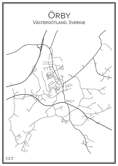 Stadskarta över Örby