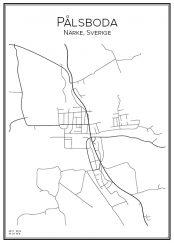 Stadskarta över Pålsboda