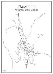 Stadskarta över Ramsele