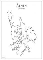 Stadskarta över Åsnen