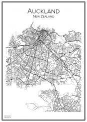 Stadskarta över Auckland
