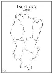 Stadskarta över Dalsland