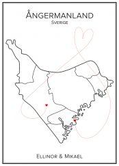 Kärlekskarta över Ångermanland