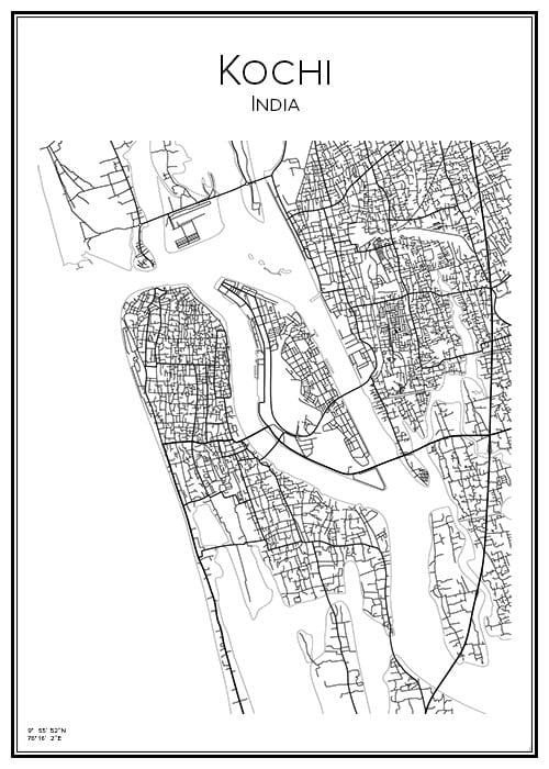 Stadskarta över Kochi