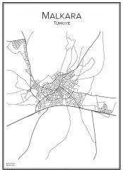 Stadskarta över Malkara
