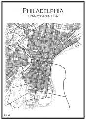 Stadskarta över Philadelphia