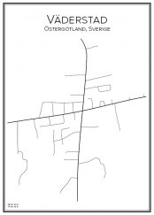 Stadskarta över Väderstad