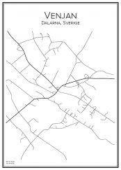 Stadskarta över Venjan