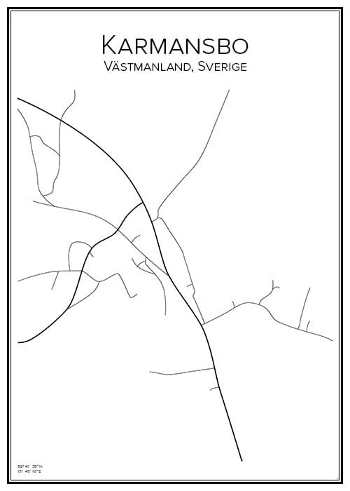 Stadskarta över Karmansbo