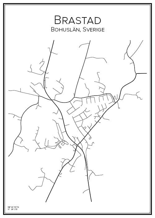 Stadskarta över Brastad