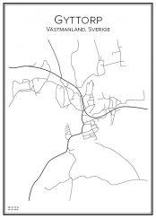 Stadskarta över Gyttorp