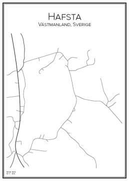 Stadskarta över Hafsta