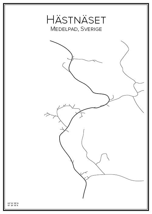 Stadskarta över Hästnäset