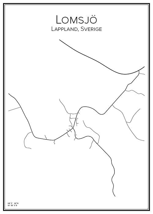 Stadskarta över Lomsjö
