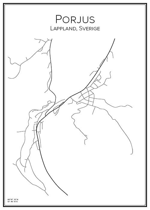 Stadskarta över Porjus