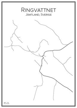 Stadskarta över Ringvattnet