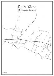 Stadskarta över Rombäck