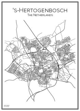 Stadskarta över 's-Hertogenbosch