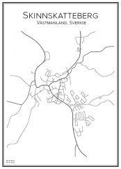 Stadskarta över Skinnskatteberg
