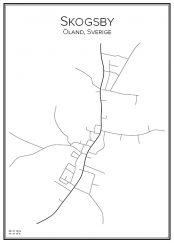 Stadskarta över Skogsby