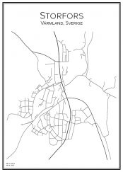 Stadskarta över Storfors