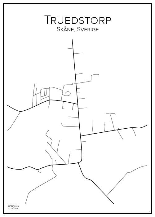 Stadskarta över Truedstorp