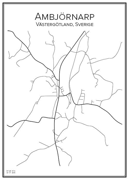 Stadskarta över Ambjörnarp