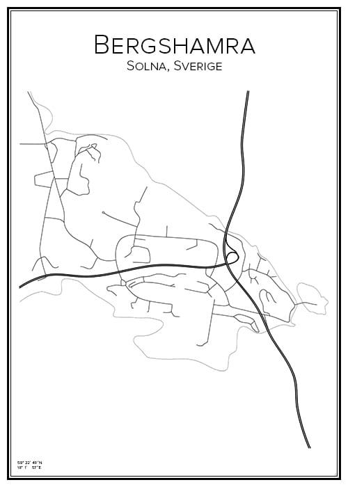 Stadskarta över Bergshamra