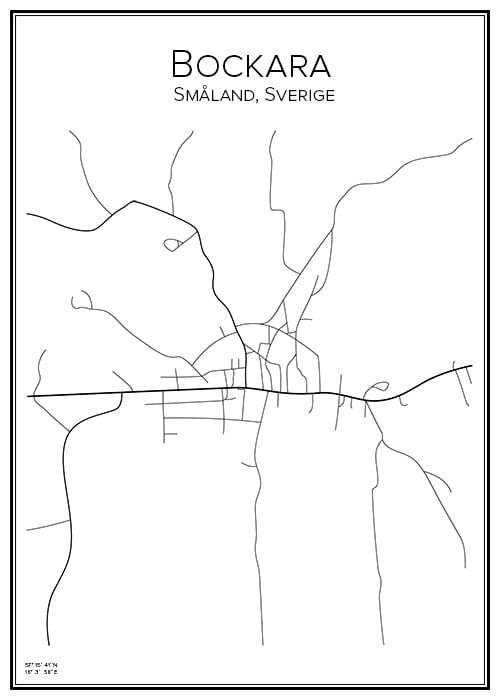 Stadskarta över Bockara