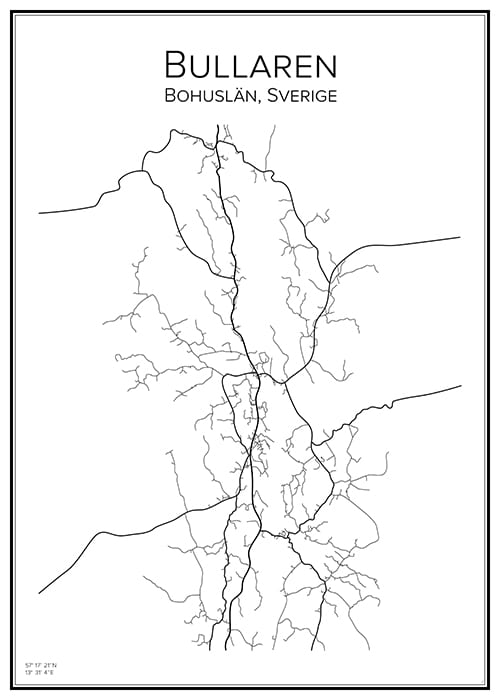 Stadskarta över Bullaren