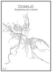 Stadskarta över Domsjö
