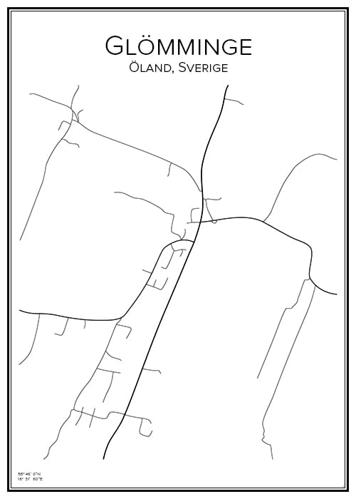 Stadskarta över Glömminge