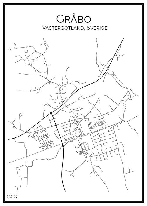 Stadskarta över Gråbo