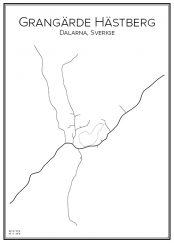 Stadskarta över Grangärdes Hästberg