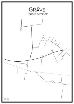 Stadskarta över Gräve
