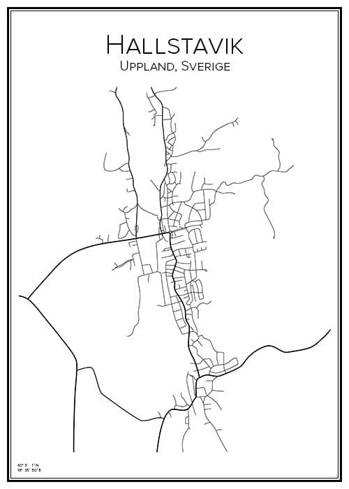 Stadskarta över Hallstavik