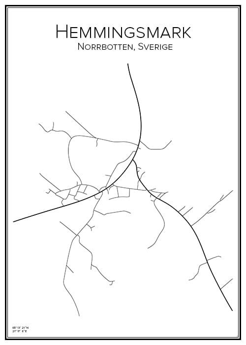 Stadskarta över Hemmingsmark