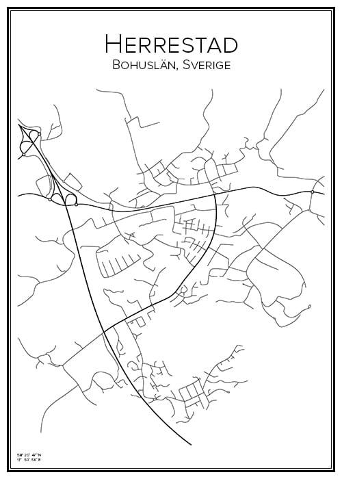 Stadskarta över Herrestad