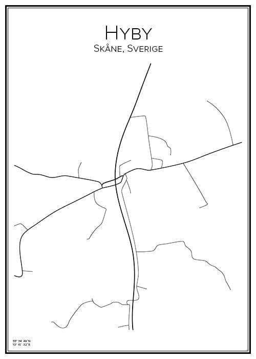 Stadskarta över Hyby