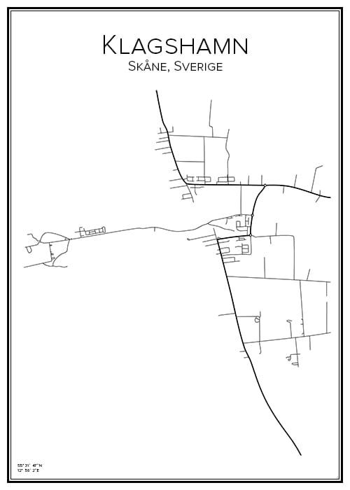 Stadskarta över Klagshamn
