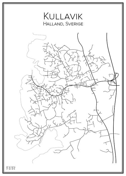 Stadskarta över Kullvik