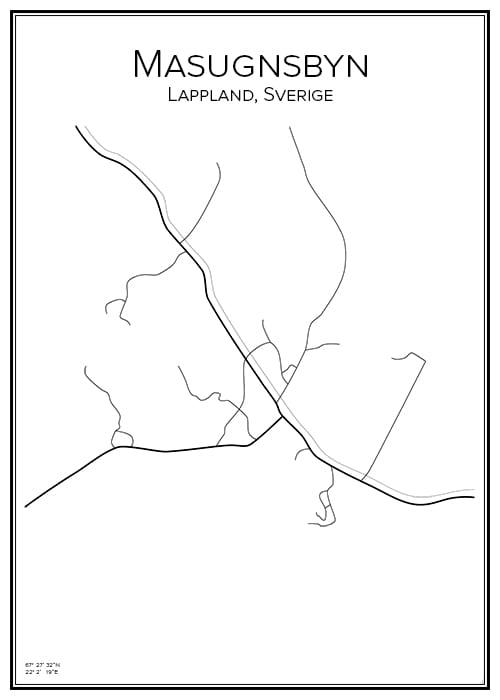 Stadskarta över Masugnsbyn