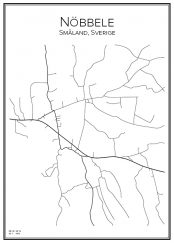 Stadskarta över Nöbbele