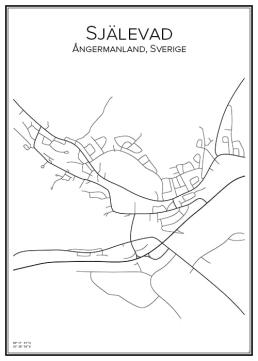 Stadskarta över Själevad