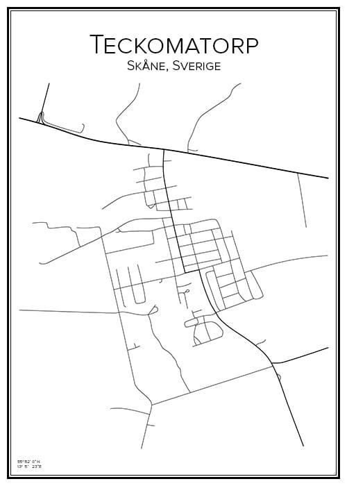 Stadskarta över Teckomatorp