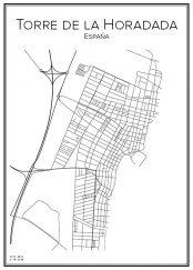 Stadskarta över Torre de la Horadada