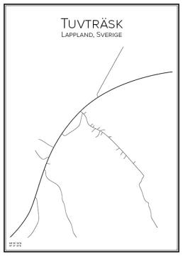 Stadskarta över Tuvträsk
