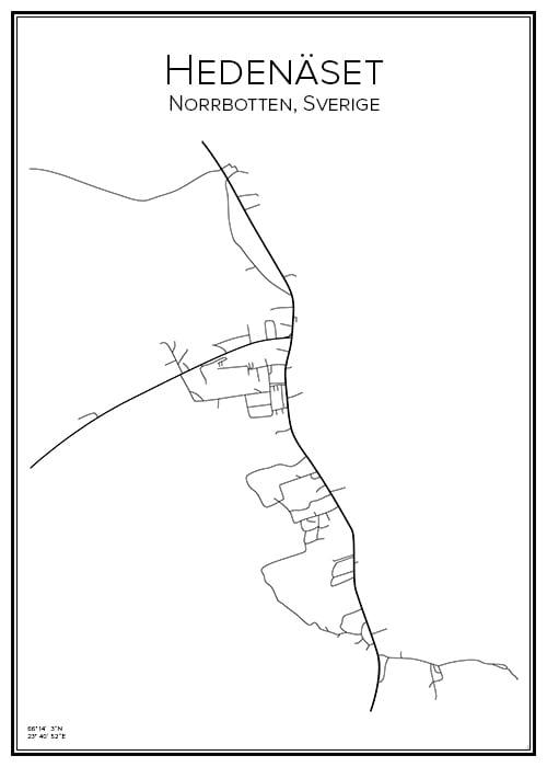 Stadskarta över Hedenäset