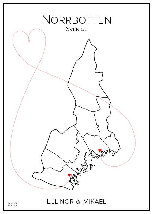 Kärlekskarta över Norrbotten (landskap)