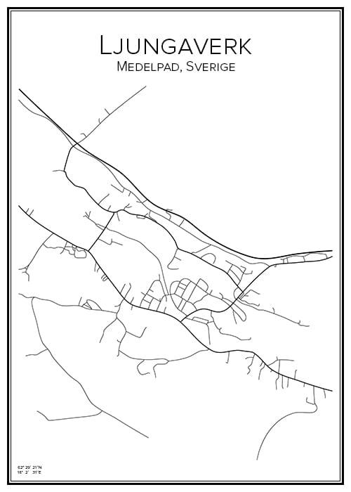 Stadskarta över Ljungaverk